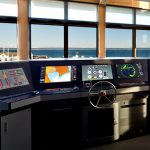 Pilothouse marine simulator at the Northwest Maritime Center in Port Townsend, WA