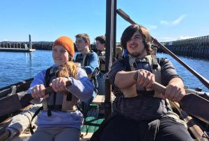 Port Townsend Bravo Team Ocean program on longboats